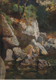 A rocky mountainstream