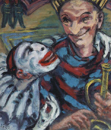 Two circus clowns