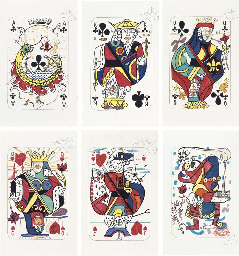 Six dessins de cartes à jouer