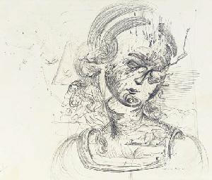 Portrait de femme d'après Léon
