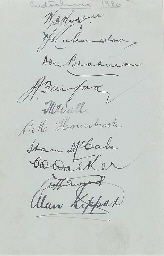 TEST AND COUNTY AUTOGRAPHS, 19