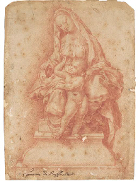 The Madonna and Child seated o