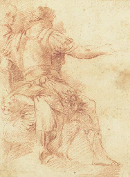 Two seated men gesturing to th