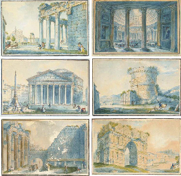 Eleven views of Ancient Rome: