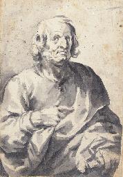 A man in a cloak, half-length,