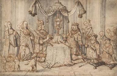 Emperor Maximilian I with his
