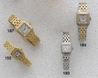 Cartier: A Ladies 18ct Gold Qu