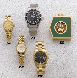 Rolex: A Ladies 18ct Gold Auto