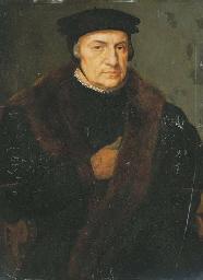 Portrait d'homme au manteau de