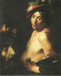 David tenant la tête de Goliat
