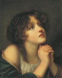 Jeune fille en prière