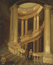 Les escaliers de la Villa Farn