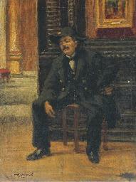 Un gardien du Louvre