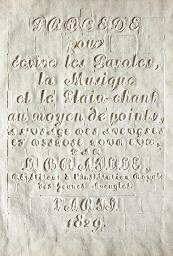 BRAILLE, Louis (1809-1852). Pr