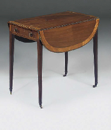 A GEORGE III MAHOGANY AND SATI