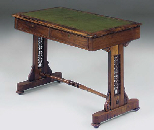 A VICTORIAN ROSEWOOD LIBRARY T