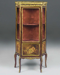 A FRENCH GILT METAL MOUNTED MA