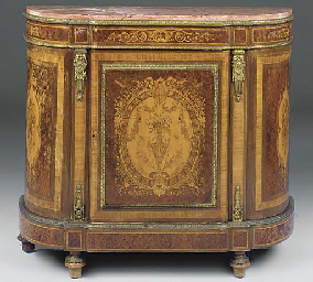 A FRENCH GILT METAL MOUNTED TU