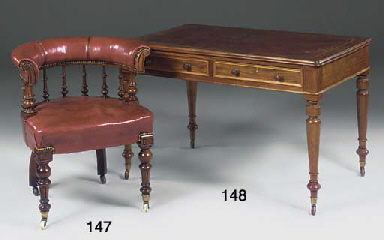 A late Victorian mahogany libr