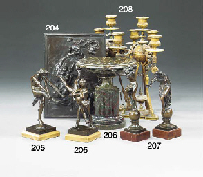 Two French bronze figure group