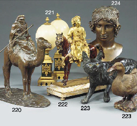 A BRONZE MODEL OF A CAMEL AND