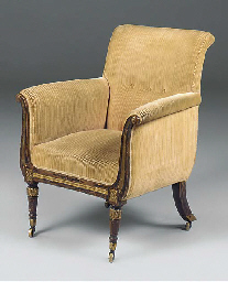 A SIMULATED ROSEWOOD AND GILT