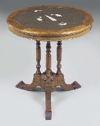 A VICTORIAN PINE CENTRE TABLE