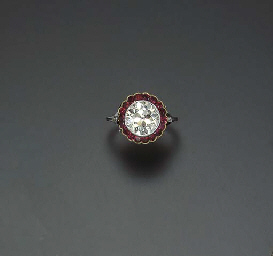 A BELLE EPOQUE DIAMOND AND RUB