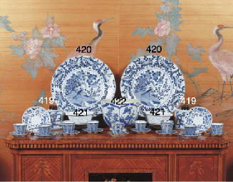 (4) A pair of Chinese blue and