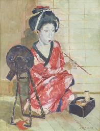 Rookende Japansche: A Geisha s