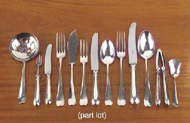 (305) A Dutch silver flatware