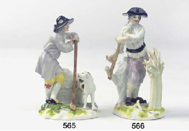 A Meissen porcelain group of a