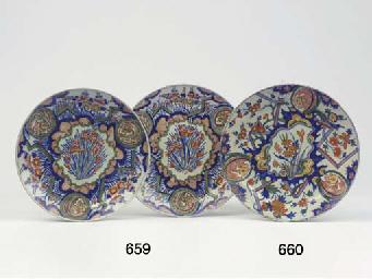A Dutch Delft polychrome 'ligh