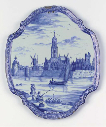 A Dutch Delft blue and white q