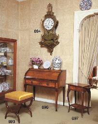A Restauration mahogany stool