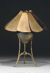 A Copper and Brass Lamp