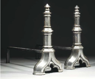 A Pair of Steel Fire Dogs