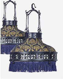 A PAIR OF WROUGHT IRON, PERFOR