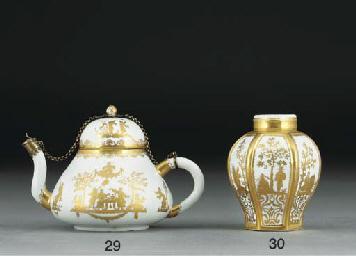 A Böttger silver-gilt-mounted
