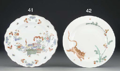 A Meissen shaped Kakiemon plat