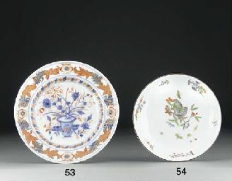 A Meissen Imari plate