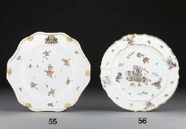 A Meissen Kakiemon shaped plat