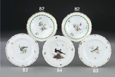 A Meissen shaped soup-plate