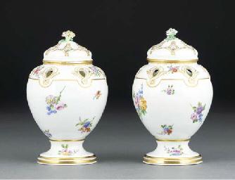 A pair of Sevres pot-pourri va
