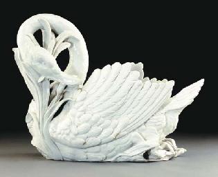 A Continental porcelain large
