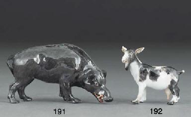 A Meissen model of a nanny goa