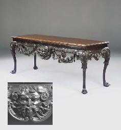 AN IRISH MAHOGANY SIDE TABLE