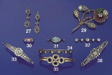 A sapphire and diamond bangle