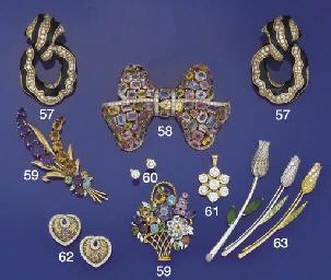 Three diamond and gem flower b