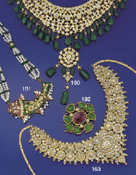 An Indian diamond, emerald and